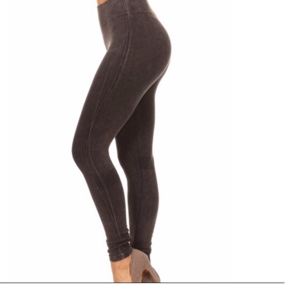 d9eb75acd2527 Yelete Pants | Sexy Faded Black Leggings Skinny Leg | Poshmark